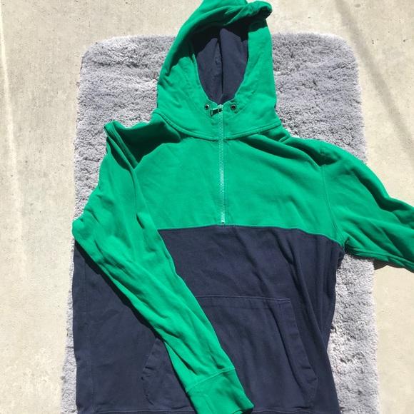 Colour-block Quarter-zip